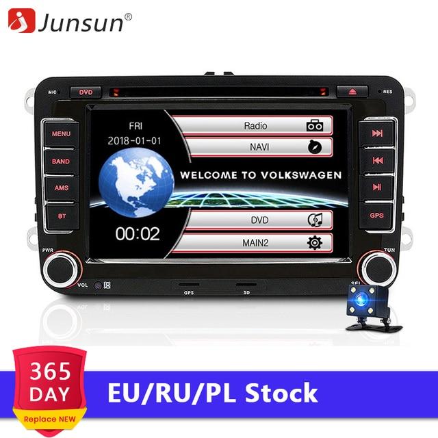 Junsun магнитола 2 Din автомагнитола ДВД плеер GPS IPOD навигацией автомагнитолы для skoda rapid octavia yeti vw polo passat b6 b7 jetta touareg автомагнитолы