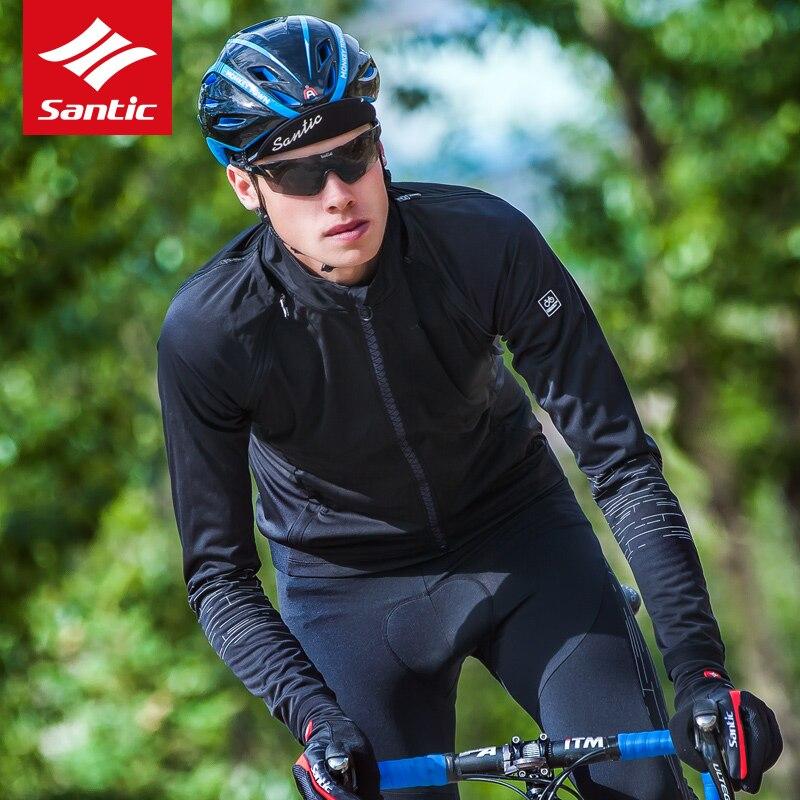 サンティックメンズジャケット 2019 秋冬フリース熱除去可能な長袖自転車ジャケットバイクハイキング服 Ciclismo