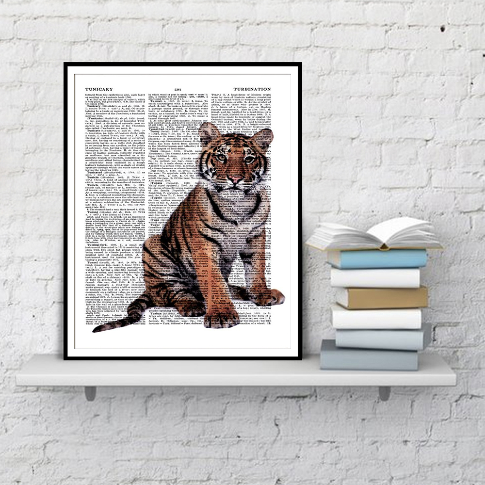 Poster, Minimalist Poster Home Decor bengal cat Definition Print Wall Art
