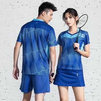 Koszulka do badmintona dla mężczyzn kobiety tenis mujer koszulka tenisowa Team odzież treningowa koszulka sportowa z krótkim rękawem Quick dry High Quality tanie i dobre opinie WOMEN LCOCO DREAM Poliester Anty-pilling Anti-shrink Przeciwzmarszczkowy Oddychające Szybkie suche Suknem KJZG02 Pasuje prawda na wymiar weź swój normalny rozmiar