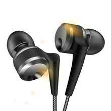 KD10 metal hifi subwoofer wired sport earphones headsets with microphone strong bass headphones