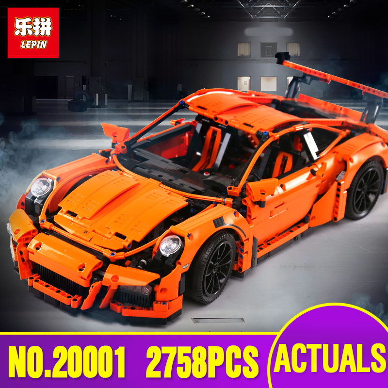 LEPIN 20001 & 20001B New technic series Race Car Model Building Kits Blocks Bricks Compatible 42056 For children birthday Gifts lepin technic city series 24 hours race car building blocks bricks model kids toys marvel compatible legoe