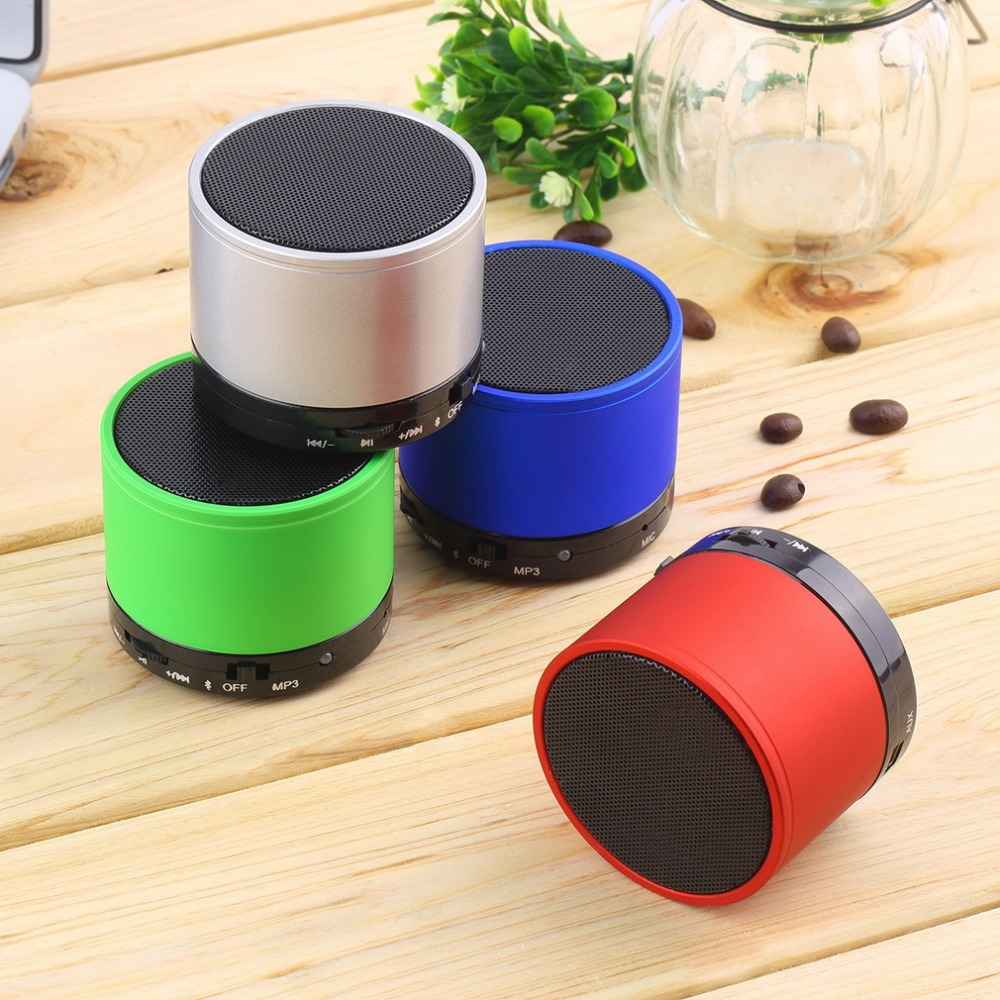 Portable Mini USB Bluetooth Speaker Compact Stereo Uiniversal Wireless Audio Music Loud Speakers Surpport Micro TF Card AUX