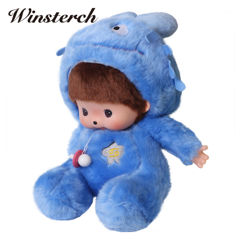 Kawaii Monchhichi Plush Dolls Twelve Constellations Monchichi Children Girls Toy Dolls Stuffed Kids Toys Brinquedos Gifts WW131 ty collection beanie boos kids plush toys big eyes slick brown fox lovely children gifts kawaii stuffed animals dolls cute toys