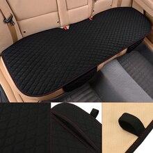 Универсальный задний Автомобильный авто чехол для сиденья нескользящий из дышащего хлопка ткань протектор коврик для хранения автомобилей внутренняя подушка 136×50 см