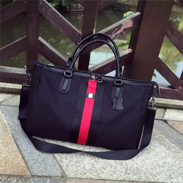 2016 New Singles shoulder bag bag leather handbag with Oxford Cloth Tote bag.