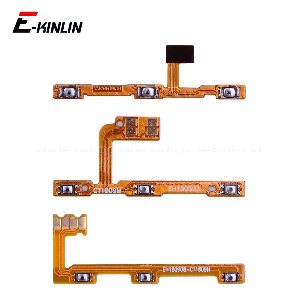 Switch Power ON OFF Key Mute Silent Volume Button Ribbon Flex Cable For HuaWei Mate 20 X 10 9 Pro Lite P Smart Plus 2019 Parts