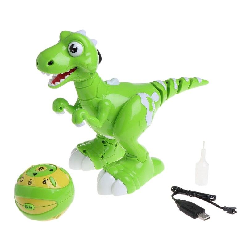 Télécommande Dinosaure Interactive Danse Musique Brouillard Respiration Jouet cadeaux pour enfant