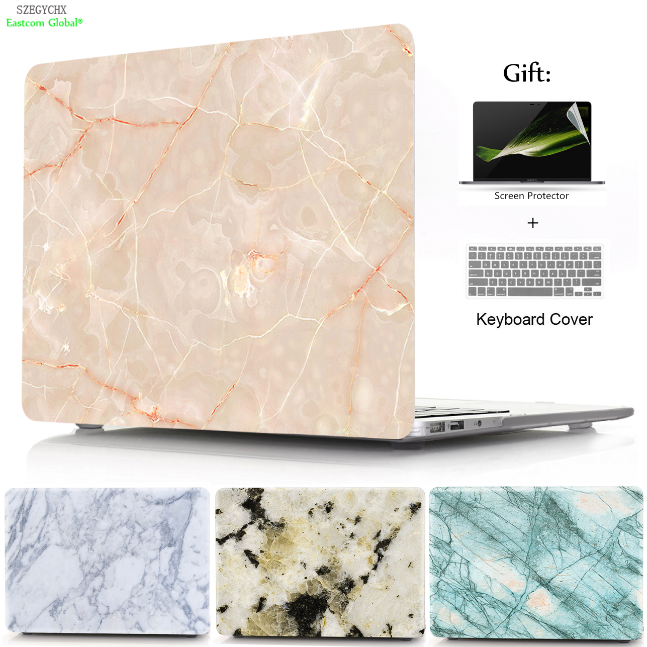 SZEGYCHX Marble Texture Hard Case Sleeve For Macbook Air Pro Retina 11 13 15 13.3 inch with Touch Bar inch Laptop bag