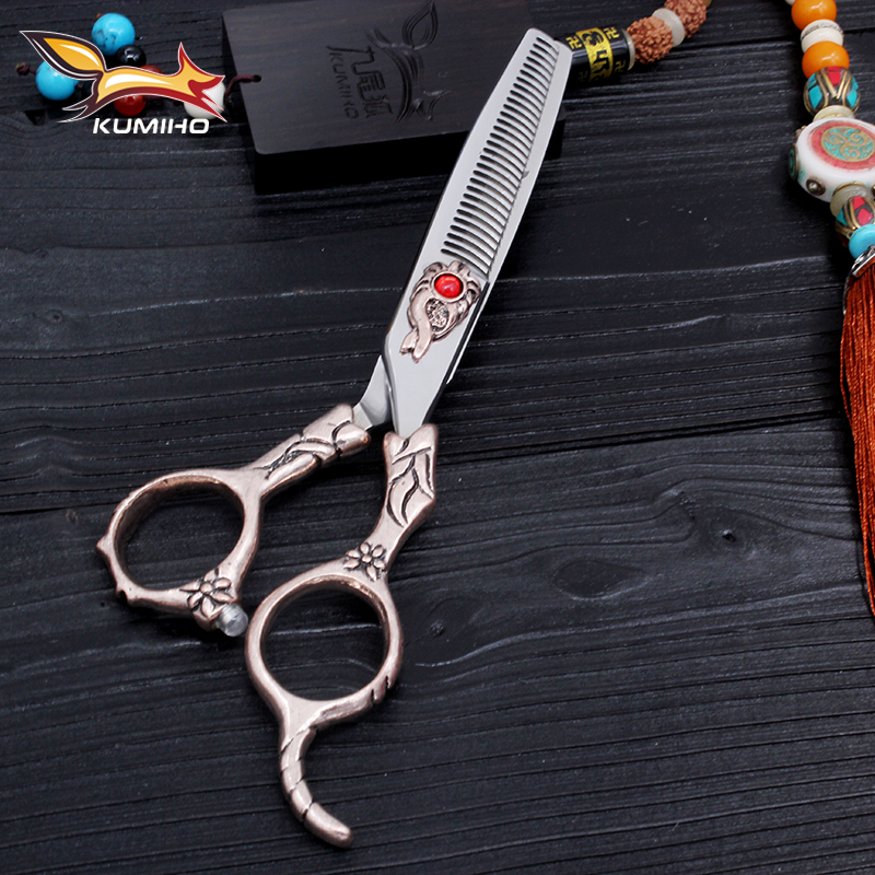 KUMIHO New arrival 2017 professional barber scissors 6 inch hair shear for salon home use hair scissors made of Japan 440C hot music express age 8 9 book 3cds dvd rom