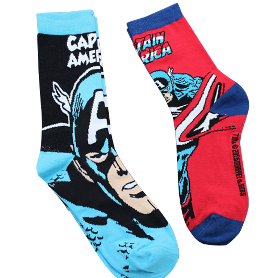 Marvel Comics Hero comic Socks cute cartoon Knee-High Stitching pattern Antiskid Invisible Casual Adult unisex summer spring