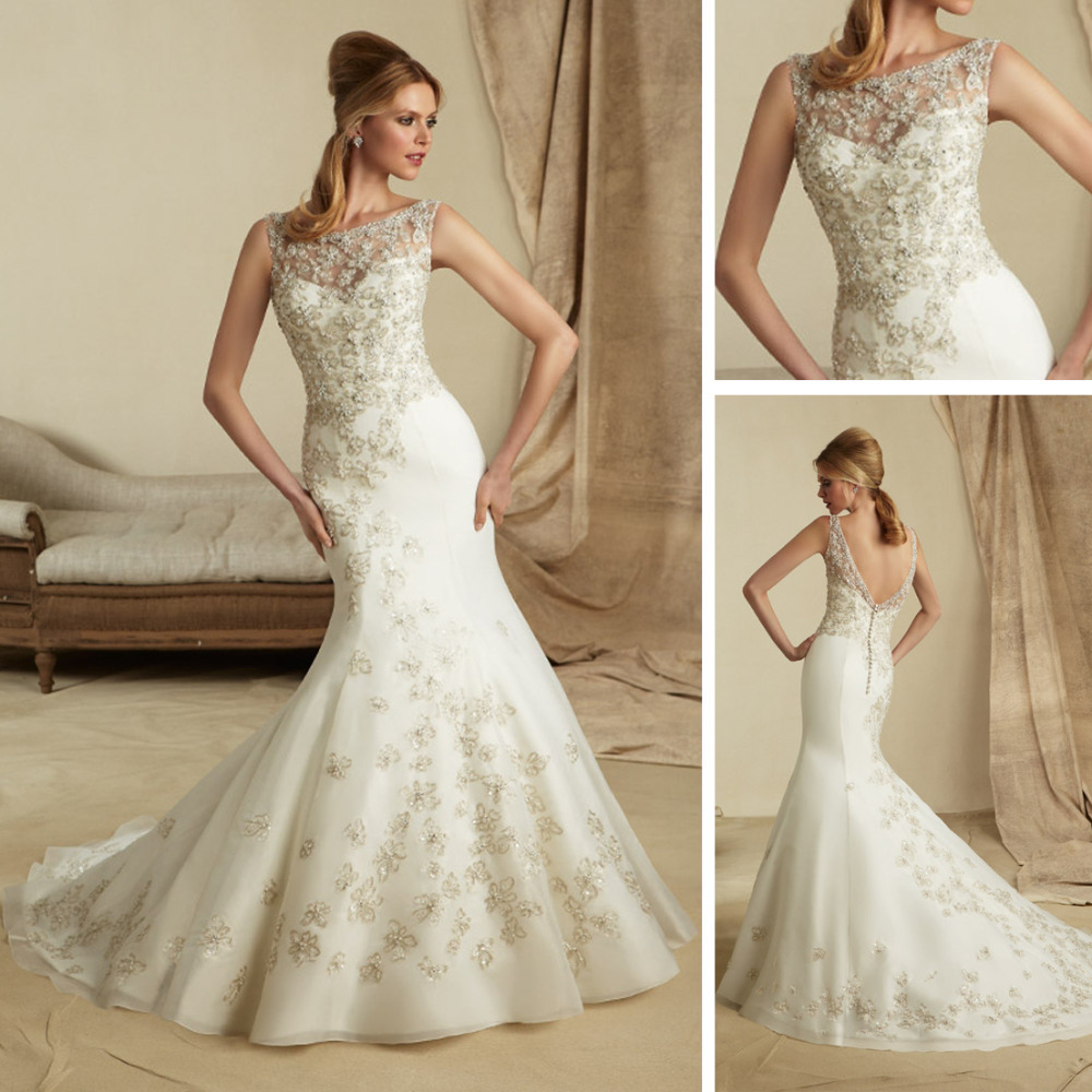 Lace Fishtail Wedding Dress With Straps Wedding