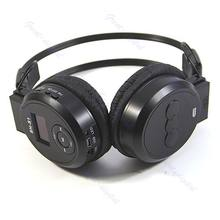 Hitam Olahraga MP3 Player LCD Foldable Headphone Headset FM Radio TF Card(China)