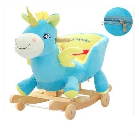 Balançoire bébé peluche cheval jouet chaise à bascule bébé videur bébé balançoire siège extérieur bébé pare-chocs enfant Ride On jouet poussette à bascule jouet - 5