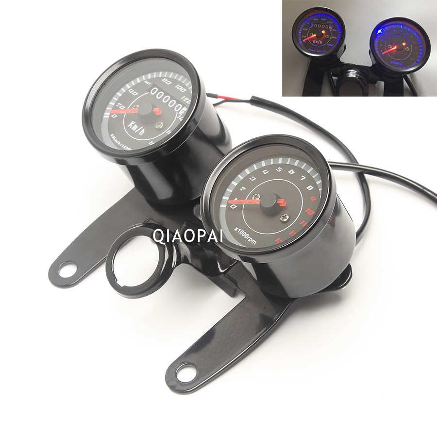 Instrumentos digitais da motocicleta led eletrônica digital medidor de pressão óleo 1000 rpm medidor do motor velocímetro odômetro tacômetro