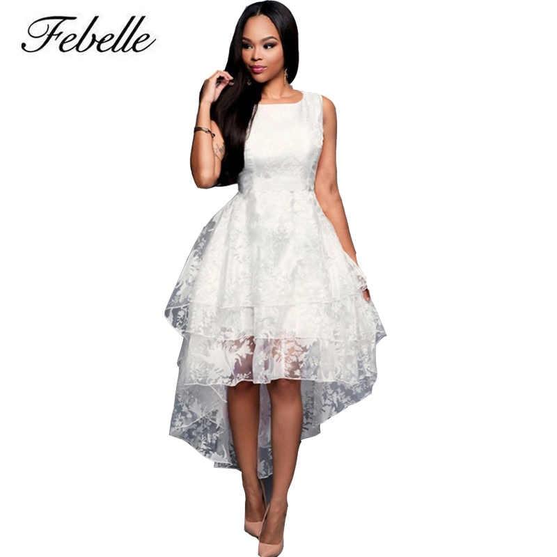 Febelle Asymmetrical Sweet Ball Gown Maxi Dress Women O Neck ...