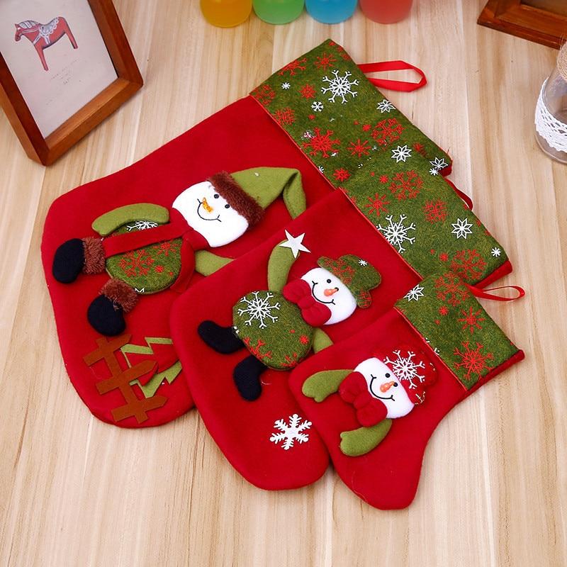 1 PC 21/34/45cm Christmas Stocking Holder Santa Claus Sock ...