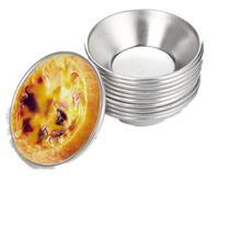 DIY инструмент для выпечки 7 см Pasteis De Nata Выпекание в печи круглые яичные брезенты плесень Custard оловянный торт Кекс инструмент LX4778
