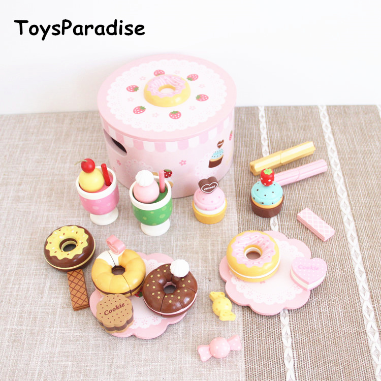 Baby Toys Strawberry Simulation Doughnut Set Wooden Toys For Kids Afternoon Tea Cake Child Educational Birthday GiftBaby Toys Strawberry Simulation Doughnut Set Wooden Toys For Kids Afternoon Tea Cake Child Educational Birthday Gift