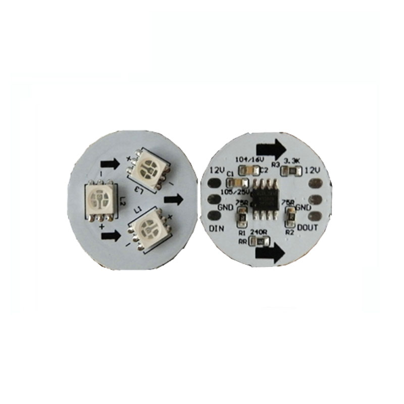 10X High Quality Dream Color 5050smd Round Pcb With Ws2811free Shipping