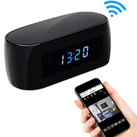 W IFi Camera Alarm Clock With Motion Detection Night Vision HD 1080P Video Recorder Wireless IP