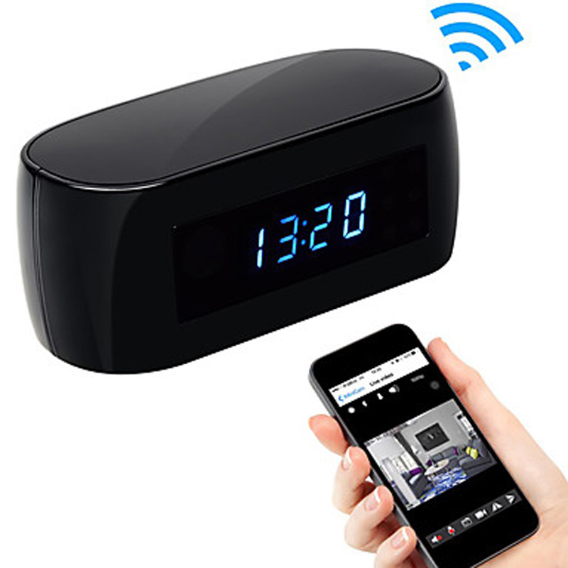 W-iFi Camera Alarm Clock with Motion Detection Night Vision HD 1080P Video Recorder Wireless IP Cameras Support IOS/Android PC ноутбук lenovo s410 ifi 14