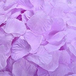 1000 шт./лот, лепестки роз, свадебные, искусственные шелковые цветы, украшения, свадебные, вечерние, цветные, 40 цветов, RP01 - Цвет: light purple