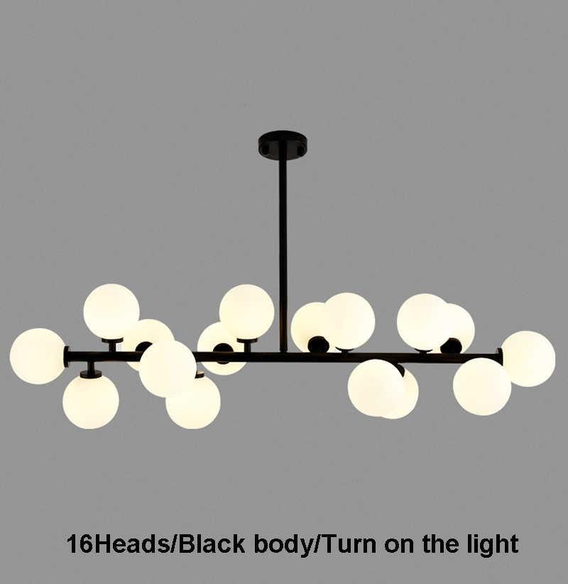 Современный светодиодный Люстра светильник 16 Светодиодный свет пузырь люстра Подвесная лампа для ресторана подвеска висячая лампа