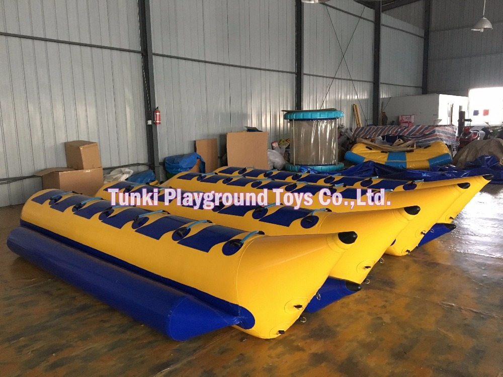pvc double inflatable banana boat for sale