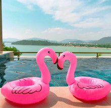 Hawaii Flamingo Party Decoration Float Inflatable Drink Cup Holder Kit Pool Bachelorette Toy Event Supplies