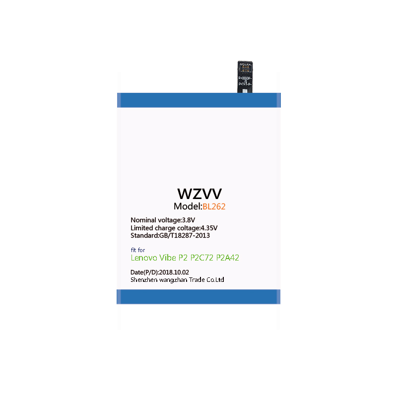 US $10 88 |wzvv 5500mAh BL262 Replacement battery for Lenovo Vibe P2 P2C72  P2A42 batteries-in Mobile Phone Batteries from Cellphones &