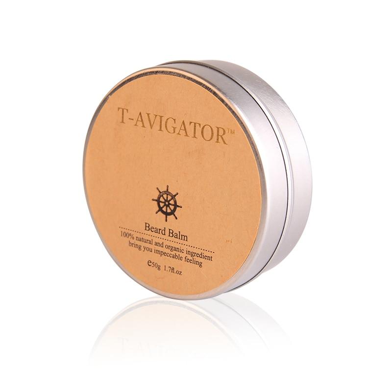 Купить с кэшбэком Cool 50g Beard Styling Cream Natural Organic modeling and Moisturizing For Growth Grooming Care Treatment Free shipping