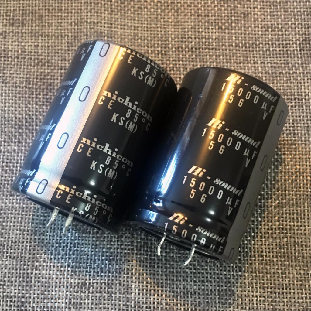 2018 hot sale 2PCS 15000Uf/56V nichicon Ultra White Gold KS Hi Sound Audio Electrolytic Capacitors free shipping