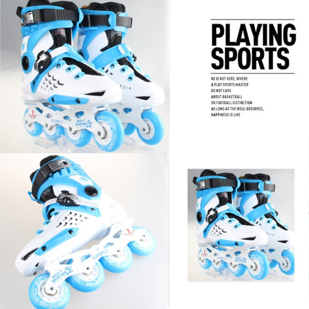 Unisex Multi Colors Professional Skating Shoes Single-row Roller Skates Shoes Adult Inline Universal Skating Rink adult s roller skates inline skating f2 2013 white and black flying eagle f2