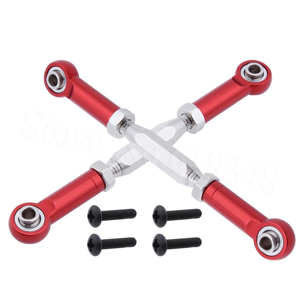 2pcs Front Aluminum Steering Linkage Rod Turnbuckle For RC E10 1:10 Electric Himoto E10XT E10XTL Katana Truggy Spare Parts 33605
