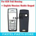 Для Nokia 6230 Высокое Качество Новый Полный Полный Мобильный Телефон Дома Cover Case + Английский/Русский/Арабский Клавиатура С отслеживания