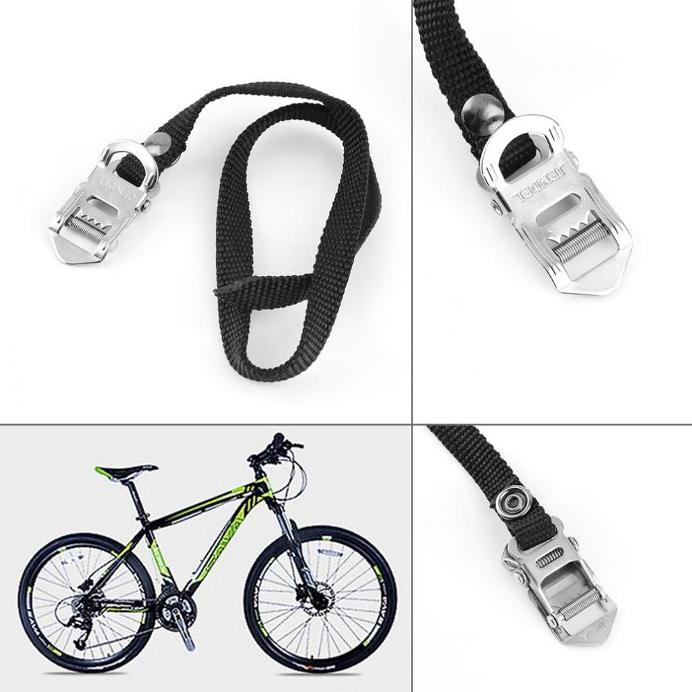 "NEW!BicycIe Alloy 9//16/"" PedaIs With Toe Clips /& Straps Black//Silver BlKE MTB BMX"