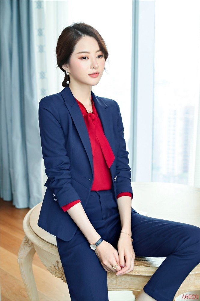 Formal Uniform Styles Women Business Suits With Pants And Jackets Coat 2019 Spring Autumn Ladies Professional Pantsuits Blazers