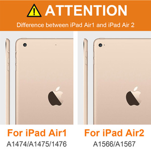 Image 5 - עור מפוצל מקרה עבור iPad אוויר 2 A1566/1567 מגנט אוטומטי שינה Stand Flip עור כיסוי עבור iPad אוויר 2 9.7 אינץ tablet מקרה + עט