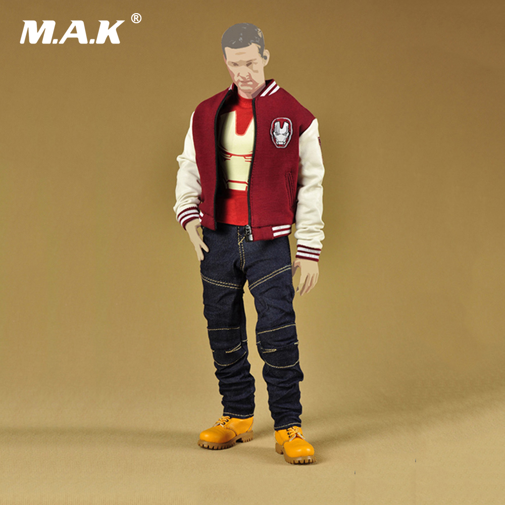 1/6 Scale Iron Man Fashion Clothes Set Models Accessories for 12 Inches Figures Baseball Jacket&Jeans Pants&T shirt& Leather Boo 1 6 fashion custom air force jacket set punk jacket set with canvas bucket bag f 12 inches g dragon male body action figures
