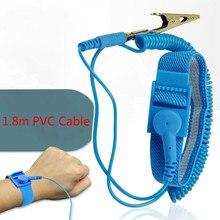 Регулируемый Антистатический браслет электростатический ESD discharge Cable многоразовый ремешок на запястье с заземлением