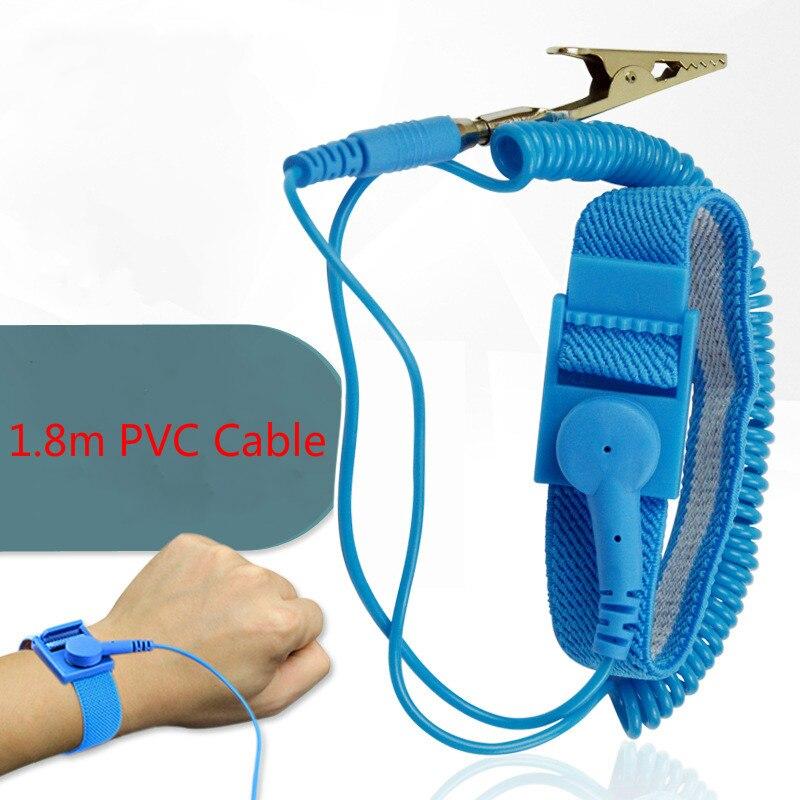 Anti-static Cordless Bracelet Electrostatic PLD Discharge Cable Band Wrist/<Strap