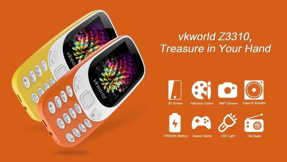 vkworld 3310 Russian Keyboard Torch Mobile Phone 2.4