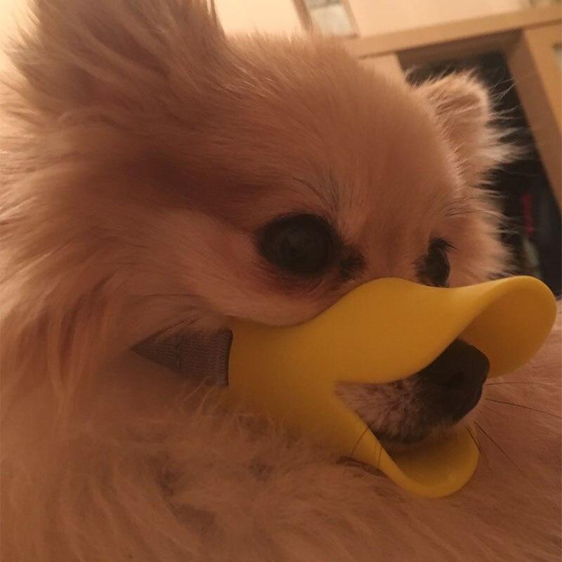 Silicone Dog Muzzle Pitbul Cute Duck Mouth Mask Muzzle Bark Bite Stop Small Dog Anti-bite Masks For Dog Pets Products
