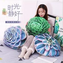 WYZHY Soft down cotton simulation succulent pillows plush toy bedside ornaments to send friends and children gifts  40x50CM