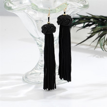 Handmade Trendy Long Tassel Earrings