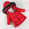 2016 NEW Winter Jacket Girl Cotton-Padded Children Winter Coat Outerwear Medium-Long Thick Girls Padded Coats For 6-11year