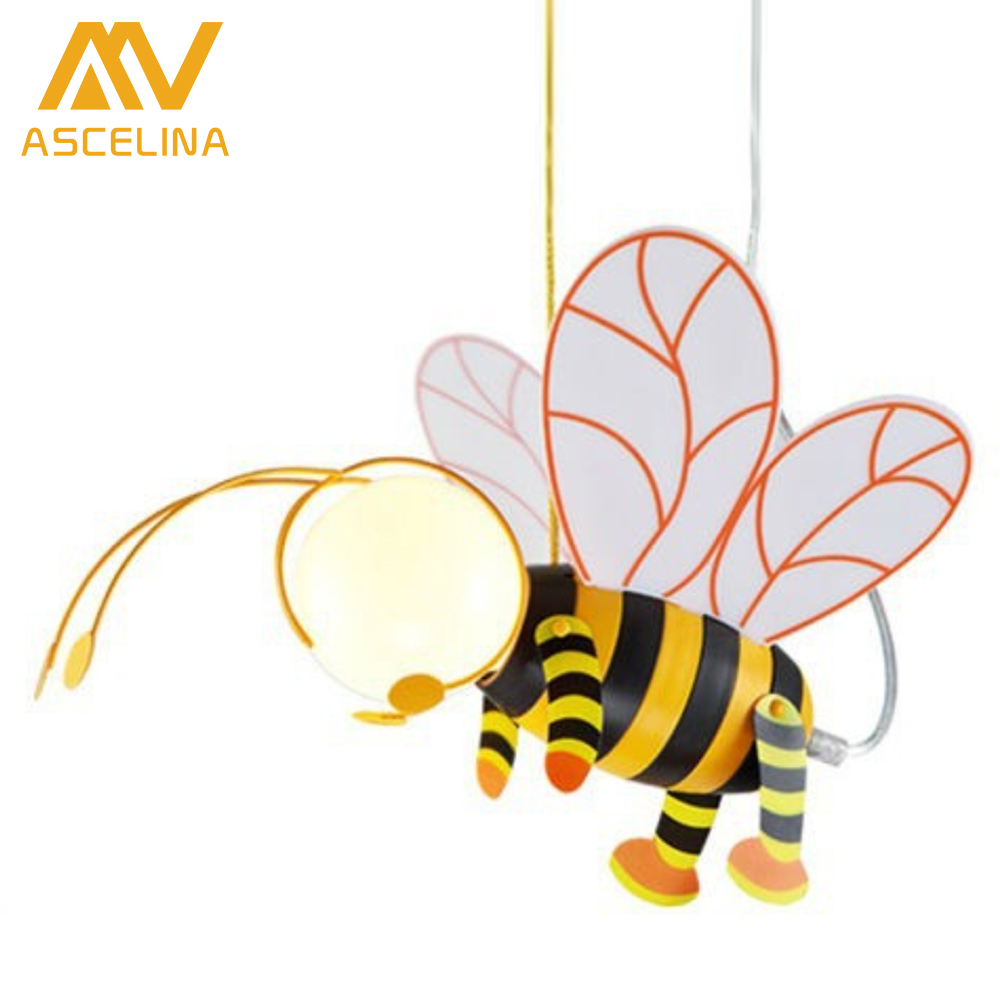 2015 New Arrival Pendant Lamp For Children Bedroom Bee Cartoon Pendant Light Lampshade Modern Children S