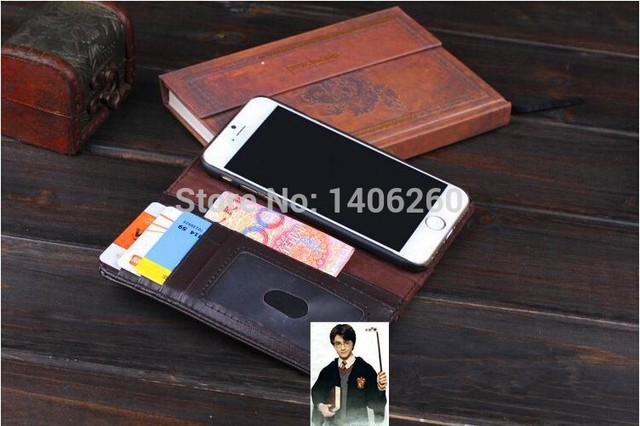 various colors db8be f208a US $4.57 |Vintage Leather Book harry potter wallet Case for iPhone 6, Book  book Phone Bags FOR IPHONE 6 4.7 inch,Free shipping on Aliexpress.com | ...