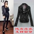 Factory Genuine Leather Jacket Women Real Sheepskin Black Red Short Bomber Punk Rock Motorcycle Biker Female Coat Jaqueta zh071